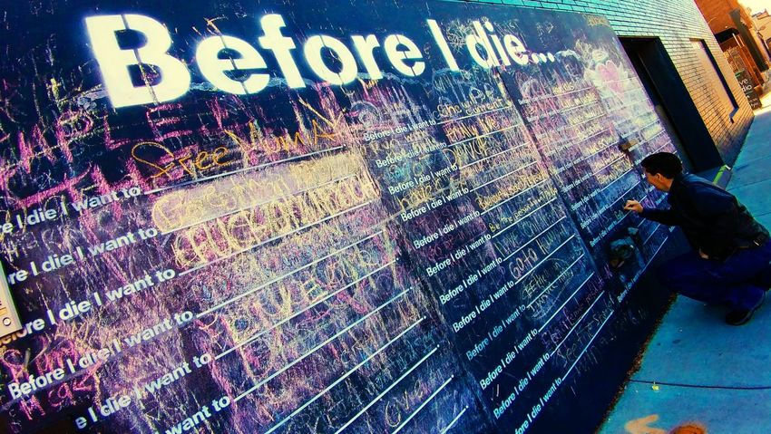 Text Multi Colored Day Real People Adult Graffiti Wall Wall - Building Feature Chalkboard Wall City Life The Street Photographer - 2017 EyeEm Awards