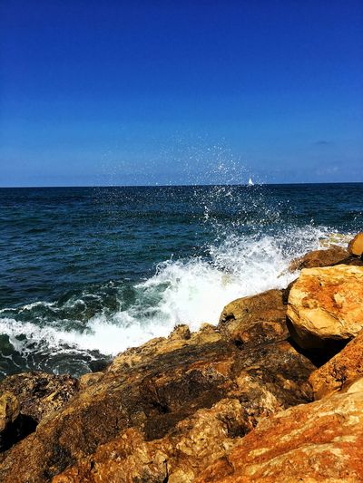 Sea Water Sky Land Beach Beauty In Nature Motion Nature