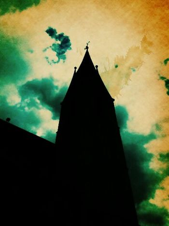 Church Tower Sky And Clouds Hanging Out Check This Out Taking Photos Mobilephotography Enjoying Life Hello World