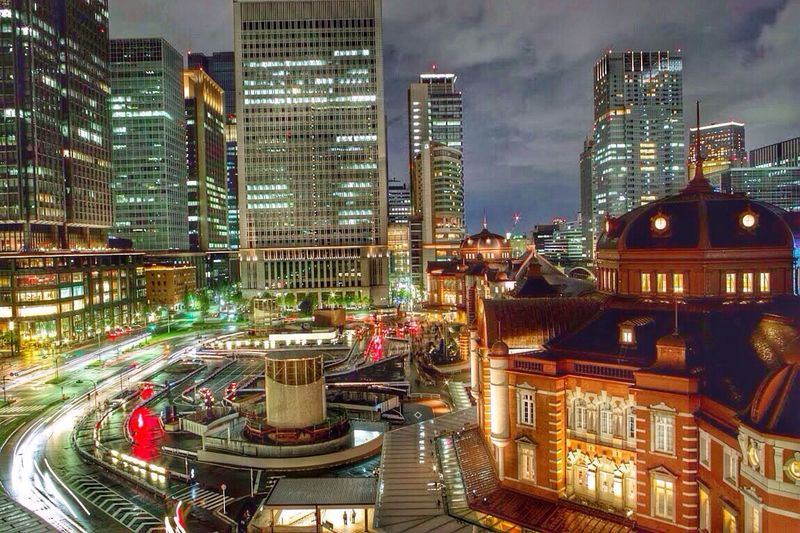 Hdr_Collection Tokyo Station Night Lights Pantone Colors By GIZMON