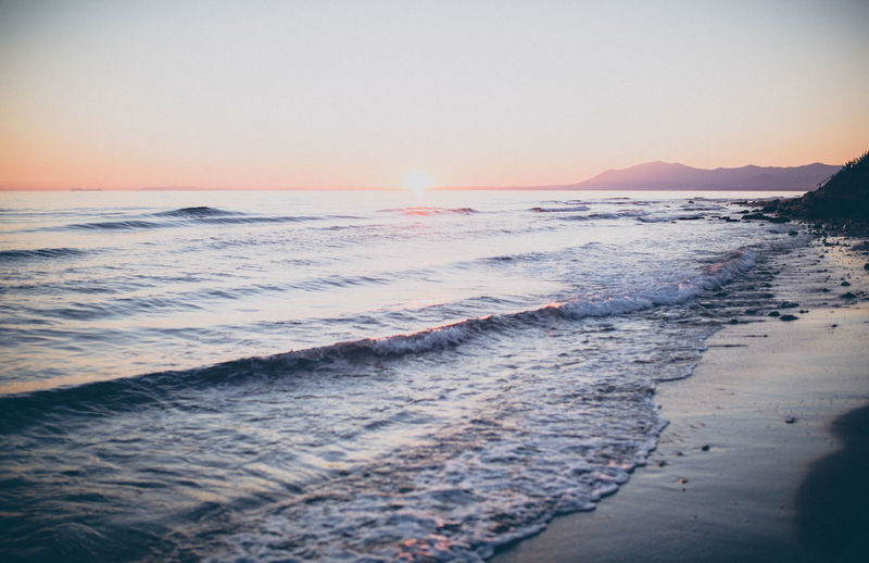 EyeEmNewHere Fun Beach Beauty In Nature Clear Sky Day Dusk Horizon Over Water Motion Nature No People Ocean Outdoors Power In Nature Sand Sand Dune Scenics Sea Sky Sunset Time Tranquil Scene Vacation Water Wave
