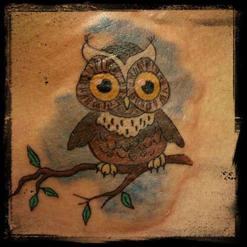 Cute owl tatto... :) tattoo Owl Tattoo Beauty Queen Art