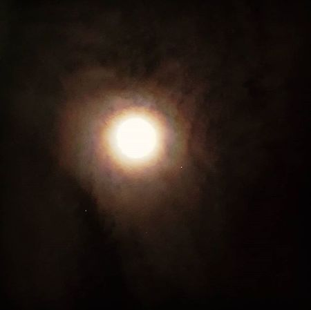 Ontem estava linda! Lua  Moon Stars Estrelas Céu Sky Noite Night Beautiful Beauty Linda Mars Marte Planet Planeta