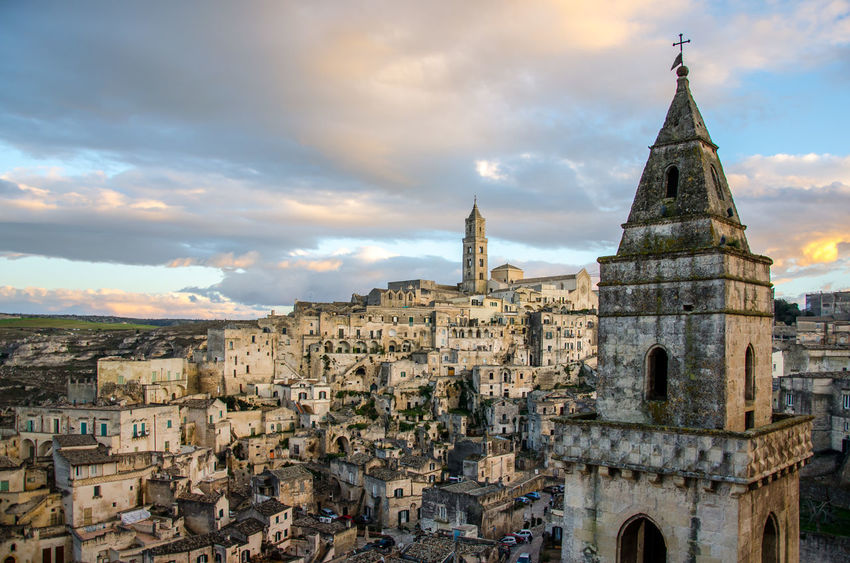 Architecture Building Exterior Built Structure City Cityscape Cloud - Sky Day History Matera Matera2019 No People Outdoors Place Of Worship Religion Sky Spirituality Sunset Travel Destinations Nikon D5100  Nikonphotography