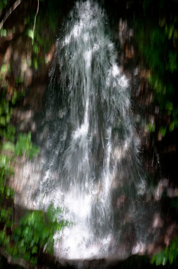 Beauty In Nature Blurred Motion Day Flowing Flowing Water Forest Green Color Growth Land Long Exposure Motion Nature No People Non-urban Scene Outdoors Plant Power In Nature Rainforest Scenics - Nature Tree Water Waterfall