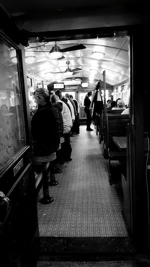 Framing The View Jigger's Diner Diner Patrons Interior Views Diner Patrons Having Breakfast People Watching Interesting Perspective  S6 E Greenwich, Rhode Island USA Eyem Gallery EyeEm Best Shots - Black + White EyeEm Dinerporn Eyeemphotography