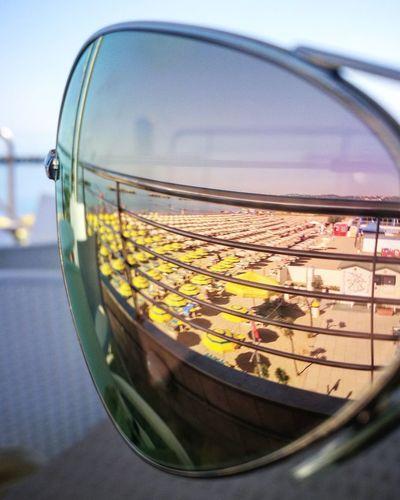 Sunglasses Sea Water Waterfront Beach Abruzzo Rayban Nopeople Sand Ombrelloni Mare Riflesso Specchio Occhialidasole Sole Sun Colazione Breakfast Mattino Morning EyeEmNewHere EyeEm Selects