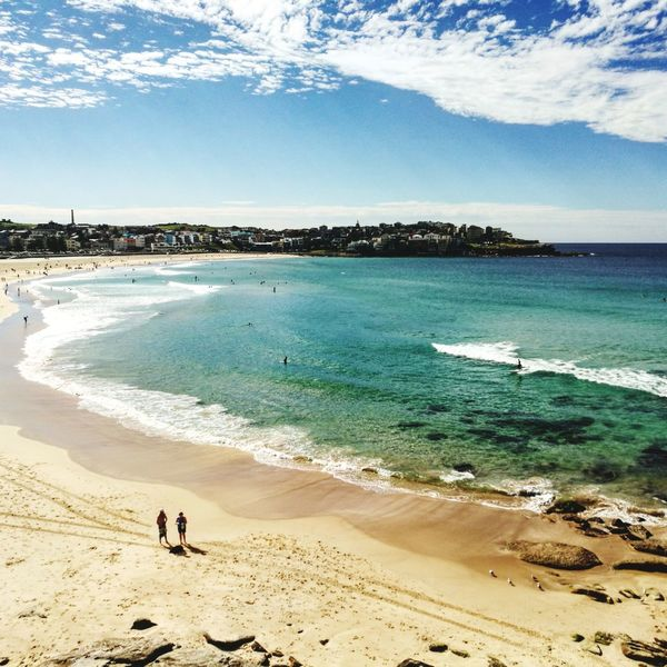 Bondi Beach, Sydney - Australia Beach Sand Sea Vacations Nature Summer Sky Full Length Horizon Over Water Tranquility Water Day People Walking Adults Only Water's Edge Scenics Adult Wave Outdoors Bondi Beach Australia The Great Outdoors - 2017 EyeEm Awards