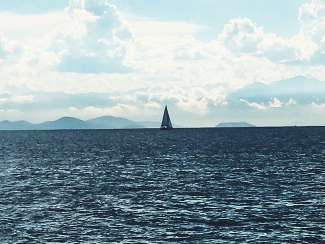 Sea Water Sky Nature Tranquil Scene Beauty In Nature Waterfront No People Scenics Cloud - Sky Sailing Outdoors Day AngraDosReis Angra Dos Reis Carioca Cariocagram Carioquissimo Cariocando Cariocapics Cariocandonorio Cariocas Cariocaboy Carioca Girl