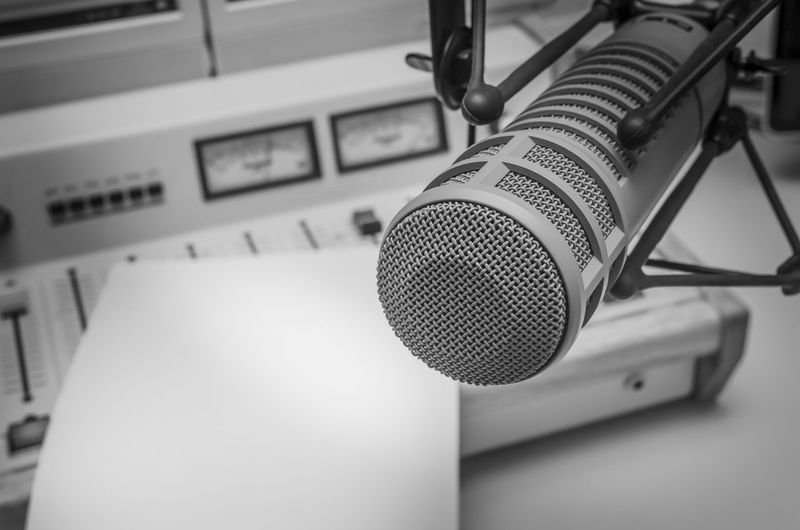 Radio station studio Technology Music Microphone Communication Arts Culture And Entertainment Audio Equipment Sound Recording Equipment No People Radio Station Recording Studio Studio