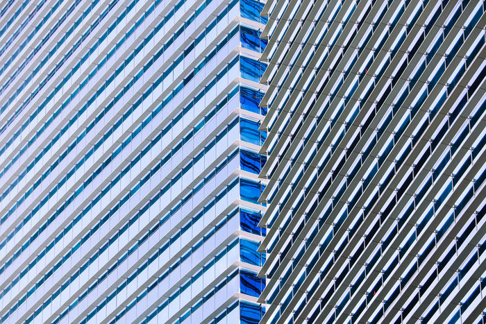 Abstract parallel lines, colors, light and shadow of modern office tower Pattern Architecture Building Exterior Building Blue Modern Close-up Design Abstract Parallel Lines Light And Shadow Windows Sunshade Visor Office Building Exterior Office Building