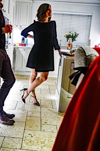 Smooth Adult Adults Only Christmas Day Full Length Indoors  Legs One Person One Woman Only Only Women People Pink Champagne Shoes Standing Start Of The Evening Style Young Adult