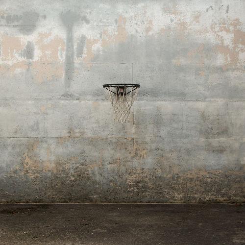 Basketball hoop on wall
