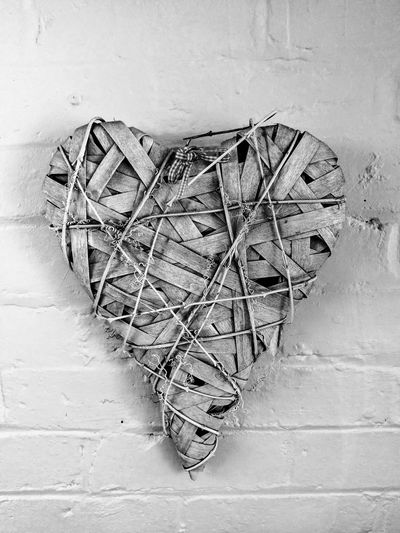 Heart Heart ❤ Heartshape Heart Shape Heart Decorative Close-up Straw Heart Hearts Black And White