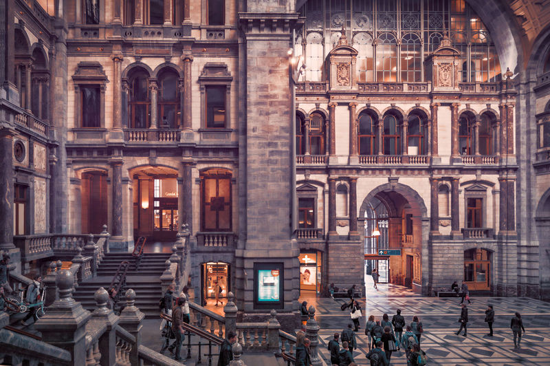 Architecture Built Structure Building Exterior Group Of People Travel Destinations Crowd Arch Large Group Of People Real People City Tourism History Men The Past Women Travel Architectural Column Adult Outdoors Remo SCarfo Belgium Antwerp Station Traveling