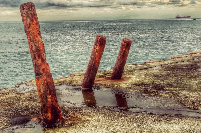Dean Quarry Rust Rusty Iron Concrete Horizon Horizon Over Water Quay Rusty Poles Water And Sky Sea And Sky Sea Rusty Rusty Things Water