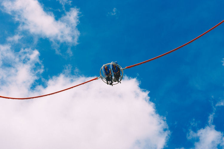 sony a6k with sel50f18 Beauty In Nature Blue Cable Cloud Cloud - Sky Cloudy Day EyeEm Best Edits EyeEm Best Shots Low Angle View Nature No People Outdoors People Together Pole Showcase July Sky Two Is Better Than One Waiting Game