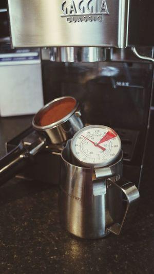 Coffee Coffeemachine Espresso Espresso Machine Barista Baristalife No People Indoors  Milkjug Thermometer