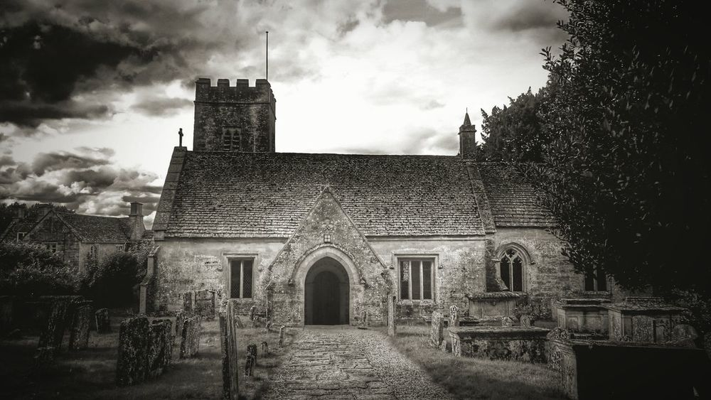 The old norman church in Great Barrington GloucestershireTaking Photos Ruralscenes Outdoor Photography Darkness And Light Landscape Churches Churchyard Architecture Architecture_bw Old But Awesome Hdrphotography Black & White Fine Art Photography Fine Art