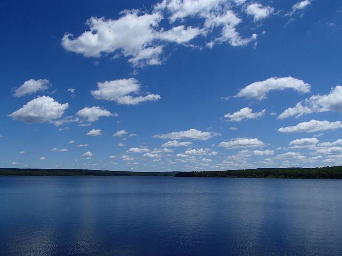 Réservoir Choinière (Parc national de la Yamaska) Cloud - Sky Sky Water Tranquility Scenics - Nature Tranquil Scene Beauty In Nature