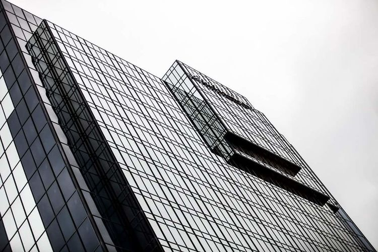 Repetition. Architecture Built Structure Building Exterior Low Angle View Modern Clear Sky Office Building Skyscraper Tall - High City Tower Building Outdoors Tall Architectural Feature Building Story Sky Man Made Object Monochrome Taking Photos For The Love Of Black And White Abstract Shapes And Lines For The Love Of Photography Eyeemphoto