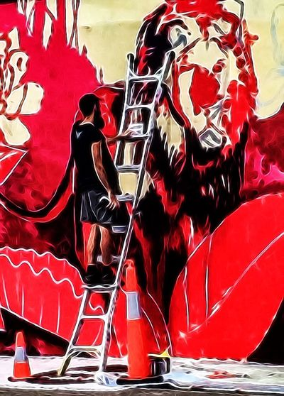 Streetart PaintingRed The Past Observer Photographic Approximation Facial Experiments OpenEdit The Illusion Of Freedom