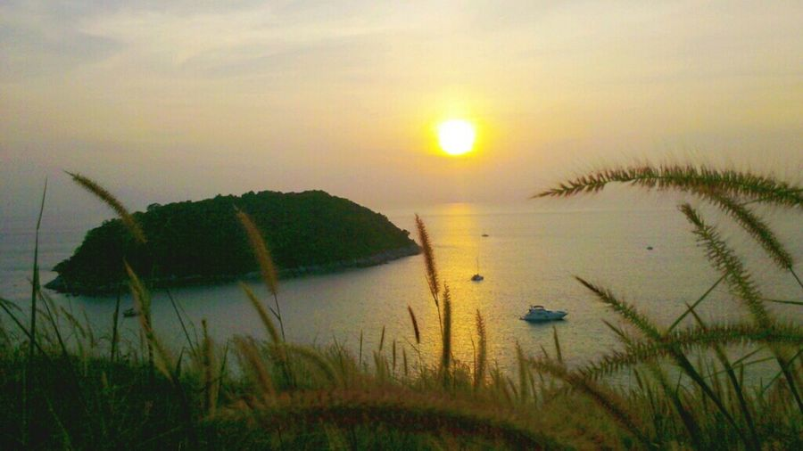Sunset at Phuget Sunset Thailand Island Phuget Beach