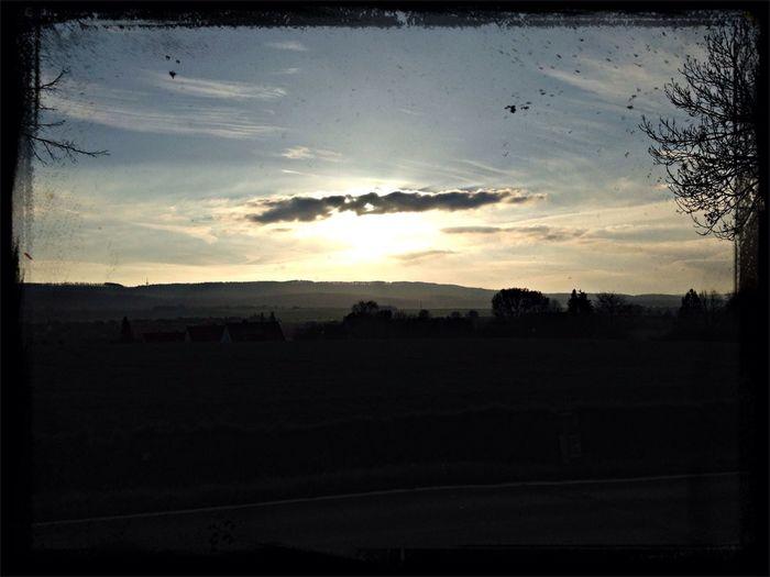 Sunset Romantic Landscape