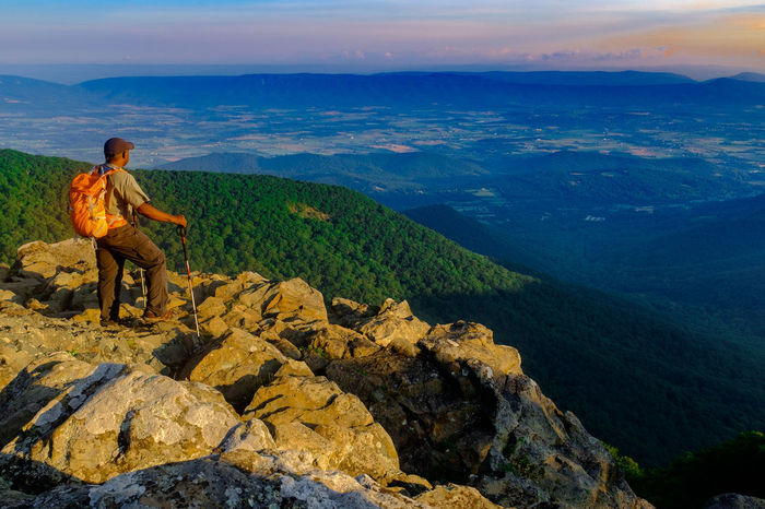 Adventure Beauty In Nature Casual Clothing Day Full Length Hiking Kühl Landscape Leisure Activity Lowepro Merrell Mountain Mountain Range National Park Nature One Person Outdoors Real People Rei Scenics Shenendoah Sitting Tranquil Scene Tranquility Virginia