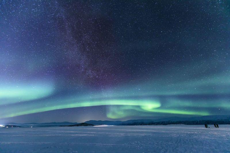 Aurora Sweden Abisko Northern Lights Aurora Night Star - Space Beauty In Nature Sky Scenics - Nature Space Astronomy