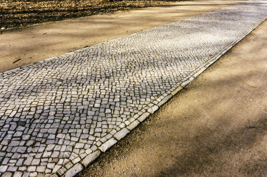 Forest track in Tiergarten Park Berlin Cobblestone Streets Forest Path Germany 🇩🇪 Deutschland Horizontal Nature Tiergarten Park Absence Close-up Color Image Day Footpath Forest Road Forest Track High Angle View Nature No People Outddors Outdoors Pattern Road Sunlight