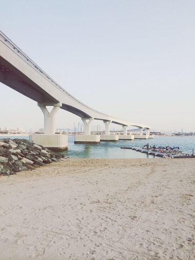 Road to Dubai | Bridge Dubai Traveling UAE Beach Tanning Sunset Beachclub Nasimi Beach Lovely
