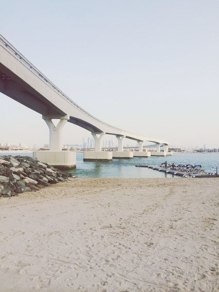 Road to Dubai | Bridge Dubai Traveling UAE Beach Tanning Sunset Beachclub Nasimi Beach Lovely