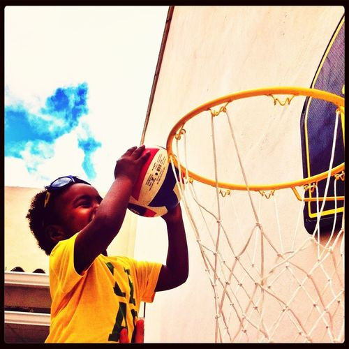 Basketball Children's Portraits I Love This Game Aner