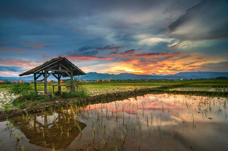 Sunset Reflection Mountain Sky Water Cloud - Sky Lake Landscape Outdoors No People Night Nature Beauty In Nature EyeEmNewHere Beauty In Nature Moodygrams Nikon D7000 Forest View EyeEm Indonesia Bestnatureshot Landscape Seascape Sun EyeEm Selects Nature Photography