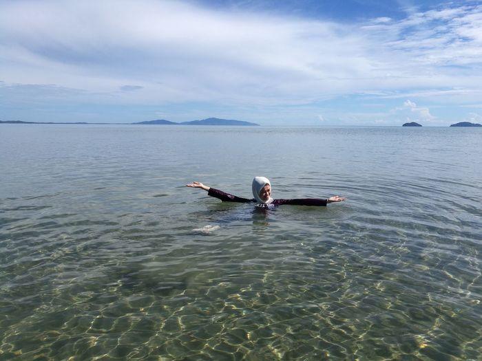 Eyem Gallery Clearity Beach One Person Swimming Sea Islandgirl Women Around The World EyeEm Nature Lover EyeEm Diversity
