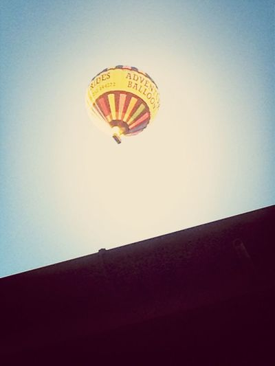 Hot air ballon above my house