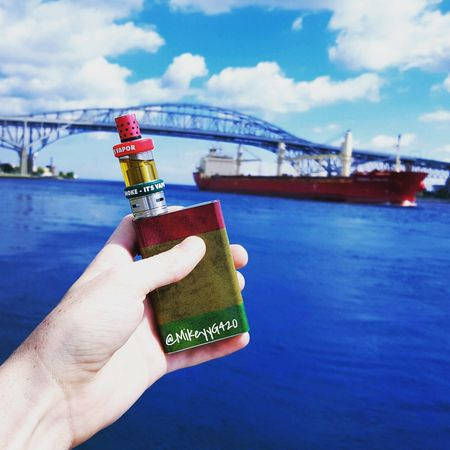 I love this pic :) Person Holding Part Of Sky Cloud Cloud - Sky In Front Of Outdoors Day Blue Personal Perspective Focus On Foreground Freshness Vape Vapor Freighter Ship Boat Water Subohm VapeLife Lake Ocean Bluewater Lake Bluewaterbridge