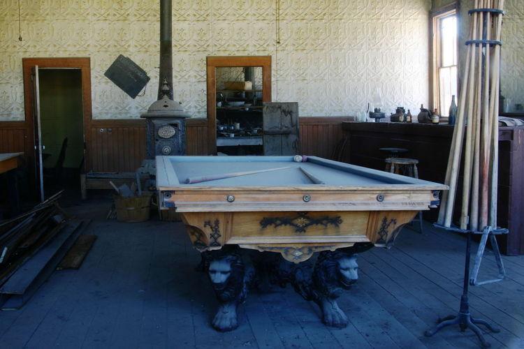 Billiard Bodie Ghost Town Old Town Play Billiards Ancient City Antichita Califiornia Saloon
