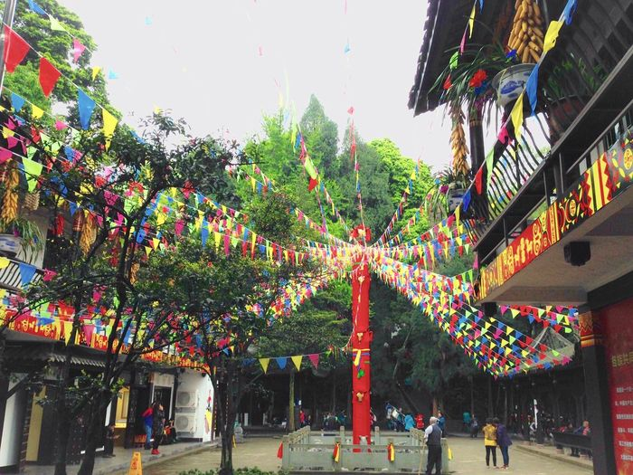 Prayer site Prayer Site Prayer Flags  Prayer Flag Pole Colorful Flags Ancient Architecture Trees Chinese Minority People Religion Mount Emei Sichuan China 43 Golden Moments Colour Of Life Festival Season Eyeemphoto People And Places