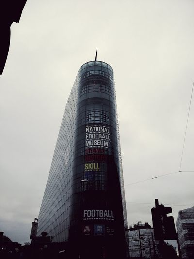 National Football Museum  Manchester Peak Outside Photography Outside Street Museum Sign Street Sign Cloudy Cloud Fog Sight Architecture Design