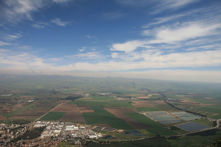 Amazing Landscapes of Israel, Views of the Holy Land Environment Landscape Beauty In Nature Sky Scenics - Nature Patchwork Landscape Cloud - Sky Tranquil Scene Agriculture Tranquility Nature Aerial View Rural Scene Day Field Farm No People Outdoors Land Idyllic