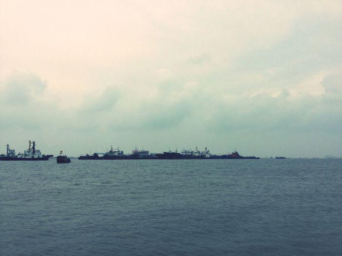 記得那年的雨季,回憶裡特安靜 長江入海口