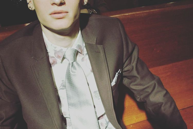 Fashion Men Young Adult Suit Up Jaw Lips First Eyeem Photo Piercings Classy