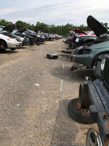 Junkyard, transportation, abandoned, used parts, rusty