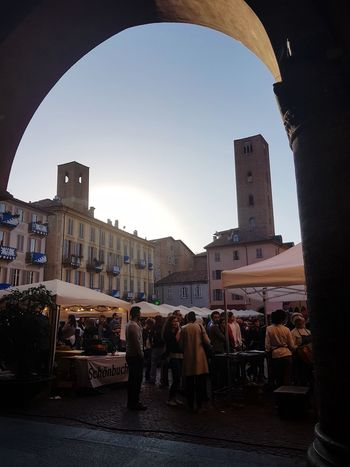 Arch Architecture City No People Outdoors Sky Day Travel Destination City Market Piedmont Italy Langhe At The Market People