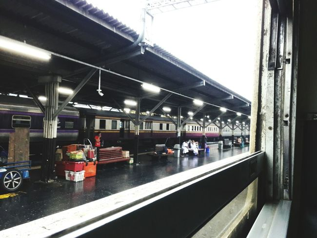 Transportation Business Finance And Industry Built Structure No People Indoors  Architecture Day Illuminated City รฟท รถไฟไทย