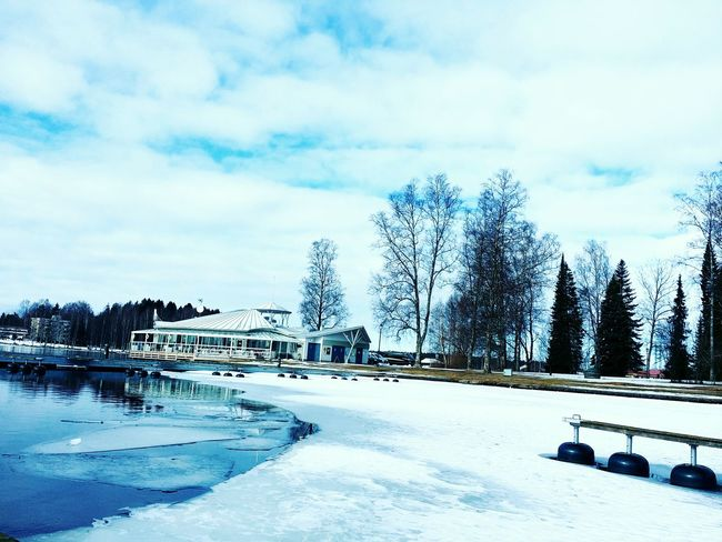 Heinola / finland Photography Photo Life Photo Of The Day Hello World Photos Finland♥ Photo♡ Photograph Heinola Black And White Photography Building Exterior Cloud - Sky