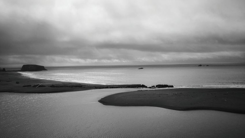 Stormy -In Black and white Black And White Ocean Minimalism Simple Simplistic Dramatic Sky Powerful Zen Distance Rewilding Copy Space Beach Wild Elements Coast Shoreline Cliffs Healthy Lifestyle Hiking Adventure Arial Shot Arial View From Above  Looking Down Angles Stillness Before The Storm Storm Coming Sky California Dreamin Go Higher