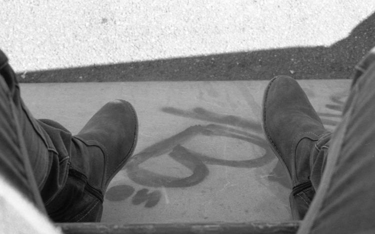 Lomography Analogue Photography Blackandwhite Ladygrey Urban Lifestyles Feet City Skate
